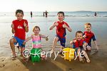 Enjoying the beach in Ballybunion on Tuesday, l to r: Fionn and Bridin Carroll, Tomas, Roibeárd and Odhran Brosnan from Ballyduff.