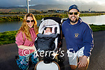 Enjoying a stroll in Blennerville on Monday, l to r: Rocio Soler Lopez and baby Triana Lopez and Jaen Roux.