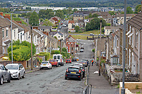 Pictured: Waun Wen Road where cars were set alight in Mayhill, Swansea, Wales, UK. Wednesday 16 June 2021<br /> Re: Riot aftermath in the Mayhill area of Swansea, Wales, UK.Pictured: Wednesday 16 June 2021<br /> Re: Riot aftermath in the Mayhill area of Swansea, Wales, UK.