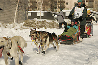 March 3, 2007   Jacque Philip during the Iditarod ceremonial start day in Anchorage