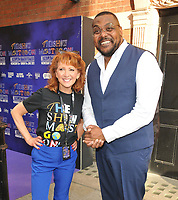 """Bonnie Langford and Trevor Dion Nicholas at the """"The Show Must Go On!"""" red carpet pre-show, Palace Theatre, Shaftesbury Avenue, London, on Sunday 06 June 2021 in London, England, UK. <br /> CAP/CAN<br /> ©CAN/Capital Pictures"""