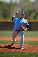 Tampa Bay Rays pitcher Nicholas Padilla (63) during a Minor League Spring Training game against the Boston Red Sox on March 25, 2019 at the Charlotte County Sports Complex in Port Charlotte, Florida.  (Mike Janes/Four Seam Images)