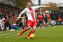 Jimmy Smith of Stevenage crosses<br />  - Stevenage v Rotherham United - Sky Bet League 1 - Lamex Stadium, Stevenage - 16th November, 2013<br />  © Kevin Coleman 2013