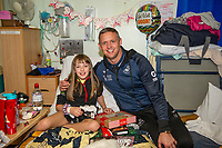 Pictured: Lee Trundle of Swansea City at Morriston Hospital, Swansea, Wales, UK. Thursday 19 December 2019