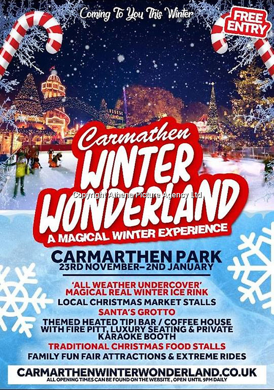 "Pictured: The poster for the Carmarthen Winter Wonderland on the attraction's Facebook page, it's billed as Carmathen's 'Winter Wonderland', missing an all important letter 'r' before the 't'.<br /> Re: William Hunter, managing director of Streamline Leisure, the company staging the event, said: ""We use an external advertising company for our online adverts and have already brought this to their attention which is being rectified as we speak, which will stop it happening again."