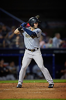 Trenton Thunder Matt Lipka (15) bats during an Eastern League game against the Reading Fightin Phils on August 16, 2019 at FirstEnergy Stadium in Reading, Pennsylvania.  Trenton defeated Reading 7-5.  (Mike Janes/Four Seam Images)