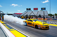 Jul 12, 2020; Clermont, Indiana, USA; NHRA pro stock driver Jeg Coughlin Jr during the E3 Spark Plugs Nationals at Lucas Oil Raceway. This is the first race back for NHRA since the start of the COVID-19 global pandemic. Mandatory Credit: Mark J. Rebilas-USA TODAY Sports