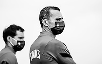 COMMERCE CITY, CO - OCTOBER 25: Vlatko Andonovski of the USWNT watches his team at Dick's Sporting Goods training fields on October 25, 2020 in Commerce City, Colorado.