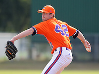 October 25, 2009: Josh Thtailkill of the Clemson Tigers in an intra-squad Orange and Purple scrimmage game at the end of fall practice at Doug Kingsmore Stadium in Clemson, S.C. Photo by: Tom Priddy/Four Seam Images