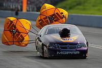 Jun. 19, 2011; Bristol, TN, USA: NHRA pro stock driver Vincent Nobile during eliminations at the Thunder Valley Nationals at Bristol Dragway. Mandatory Credit: Mark J. Rebilas-