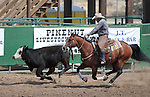 Todd Gansberg competes in the Ranch Horse Class at the Minden Ranch Rodeo on Saturday, July 21, 2012..Photo by Cathleen Allison