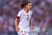 PASADENA, CA - AUGUST 4: Tobin Heath #17 looks for a pass during a game between Ireland and USWNT at Rose Bowl on August 3, 2019 in Pasadena, California.