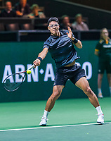 Rotterdam, The Netherlands, 11 Februari 2019, ABNAMRO World Tennis Tournament, Ahoy, first round singles: Hyeon Chung (KOR) <br /> Photo: www.tennisimages.com/Henk Koster