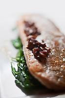 Europe/France/Rhône-Alpes/74/Haute-Savoie/Megève:  Hôtel-Restaurant: Les Fermes de Marie - Féra argentée dite: plein beurre de fruitière