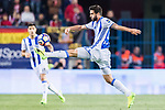 Raul Rodriguez Navas of Real Sociedad in action during their La Liga match between Atletico de Madrid vs Real Sociedad at the Vicente Calderon Stadium on 04 April 2017 in Madrid, Spain. Photo by Diego Gonzalez Souto / Power Sport Images