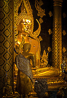 Phra Phut Chin Rat at Wat Phra Sri Rattana Mahathat Temple, Phitsanulok, Thailand, (The Most Beautiful Buddha Statue in Thailand)
