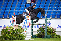 AUS-Kevin McNab rides Willunga during the Jumping for the CCIO4*-S Eventing - SAP Cup. 2021 GER-CHIO Aachen Weltfest des Pferdesports. Aachen, Germany. Friday 17 September. Copyright Photo: Libby Law Photography