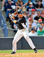 5 March 2011: New York Yankees' infielder Bradley Suttle in action during a Spring Training game against the Washington Nationals at George M. Steinbrenner Field in Tampa, Florida. The Nationals defeated the Yankees 10-8 in Grapefruit League action. Mandatory Credit: Ed Wolfstein Photo