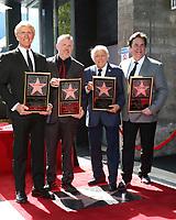LOS ANGELES - FEB 24:  Donovan Tea, Rob Gulack, Tony Butala, Bobby Poynton at the The Lettermen Star Ceremony on the Hollywood Walk of Fame on February 24, 2019 in Los Angeles, CA