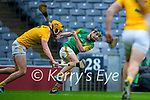 Shane Conway, Kerry in action against Joe Maskey, Antrim during the Joe McDonagh Cup Final match between Kerry and Antrim at Croke Park in Dublin.