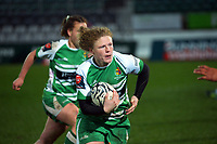 Lauren Balsillie in action during the 2021 Farah Palmer Cup women's rugby match between Manawatu Cyclones and Hawkes Bay Tuis at CET Stadium in Palmerston North, New Zealand on Friday, 6 August 2021 Photo: Dave Lintott / lintottphoto.co.nz