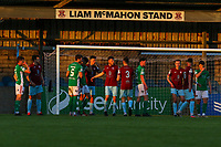 General view of the Liam McMahon Stand at Cobh Ramblers' home ground, St. Colmans Park.<br /> <br /> Cobh Ramblers v Cork City, SSE Airtricity League Division 1, 28/5/21, St. Colman's Park, Cobh.<br /> <br /> Copyright Steve Alfred 2021.