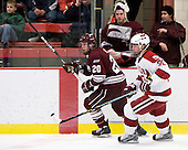 Jeremy Price (Colgate - 20), Louis Leblanc (Harvard - 20) - The Colgate University Red Raiders defeated the Harvard University Crimson 4-2 (EN) on Saturday, February 20, 2010, at Bright Hockey Center in Cambridge, Massachusetts.