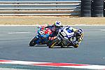 FIM CEV REPSOL in Navarra during the Spanish Championship 2014.<br /> Los Arcos, navarra, spain<br /> September 07, 2014. <br /> Moto3<br /> marias herrera<br /> gabriel rodrigo<br /> PHOTOCALL3000/ RME