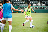 TACOMA, WA - JULY 31: Lauren Milliet #2 of Racing Louisville FC before a game between Racing Louisville FC and OL Reign at Cheney Stadium on July 31, 2021 in Tacoma, Washington.