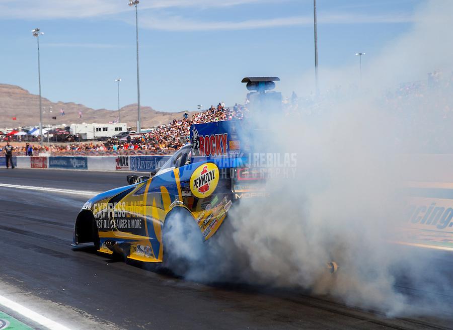 Apr 12, 2015; Las Vegas, NV, USA; NHRA funny car driver Matt Hagan during the Summitracing.com Nationals at The Strip at Las Vegas Motor Speedway. Mandatory Credit: Mark J. Rebilas-