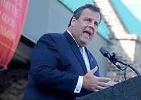 NEW JERSEY - OCTOBER 14: Gov. Chris Christie makes a campaign announcement, at the Super FoodTown in Port Monmouth New Jersey on October 14, 2013<br /> <br /> <br /> People:  Chris Christie<br /> <br /> Transmission Ref:  MNC1<br /> <br /> Must call if interested<br /> Michael Storms<br /> Storms Media Group Inc.<br /> 305-632-3400 - Cell<br /> 305-513-5783 - Fax<br /> MikeStorm@aol.com