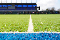 20130127 Copyright onEdition 2013©.Free for editorial use image, please credit: onEdition..Detail view of the synthetic pitch at Allianz Park during the LV= Cup match between Saracens and Cardiff Blues at Allianz Park on Sunday 27th January 2013 (Photo by Rob Munro)..For press contacts contact: Sam Feasey at brandRapport on M: +44 (0)7717 757114 E: SFeasey@brand-rapport.com..If you require a higher resolution image or you have any other onEdition photographic enquiries, please contact onEdition on 0845 900 2 900 or email info@onEdition.com.This image is copyright onEdition 2013©..This image has been supplied by onEdition and must be credited onEdition. The author is asserting his full Moral rights in relation to the publication of this image. Rights for onward transmission of any image or file is not granted or implied. Changing or deleting Copyright information is illegal as specified in the Copyright, Design and Patents Act 1988. If you are in any way unsure of your right to publish this image please contact onEdition on 0845 900 2 900 or email info@onEdition.com