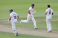 Nick Browne and Sir Alastair Cook of Essex add to the total during Surrey CCC vs Essex CCC, LV Insurance County Championship Division 2 Cricket at the Kia Oval on 12th September 2021