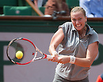 Petra Kvitova splits the first two sets against Svetlana Kuznetsova (RUS)at Roland Garros being played at Stade Roland Garros in Paris, France on May 31, 2014