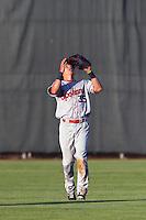 Jose Cardona #35 of the Spokane Indians during a game against the Salem-Keizer Volcanoes at Volcanoes Stadium on July 26, 2014 in Keizer, Oregon. Spokane defeated Salem Keizer, 4-1. (Larry Goren/Four Seam Images)