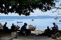 TANZANIA Zanzibar, Stone town, at sea / TANSANIA Insel Sansibar, Stonetown, am Meer