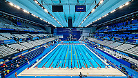 A general view of the aquatics center, venue of swimming, diving and artistic swimming during the Tokyo 2020 Olympic Games on July 22, 2021 in Tokyo, Japan <br /> Photo Giorgio Scala/Insidefoto/Deepbluemedia