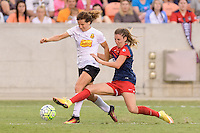 Houston, TX - Sunday Oct. 09, 2016: Elizabeth Eddy, Alyssa Kleiner during the National Women's Soccer League (NWSL) Championship match between the Washington Spirit and the Western New York Flash at BBVA Compass Stadium. The Western New York Flash win 3-2 on penalty kicks after playing to a 2-2 tie.