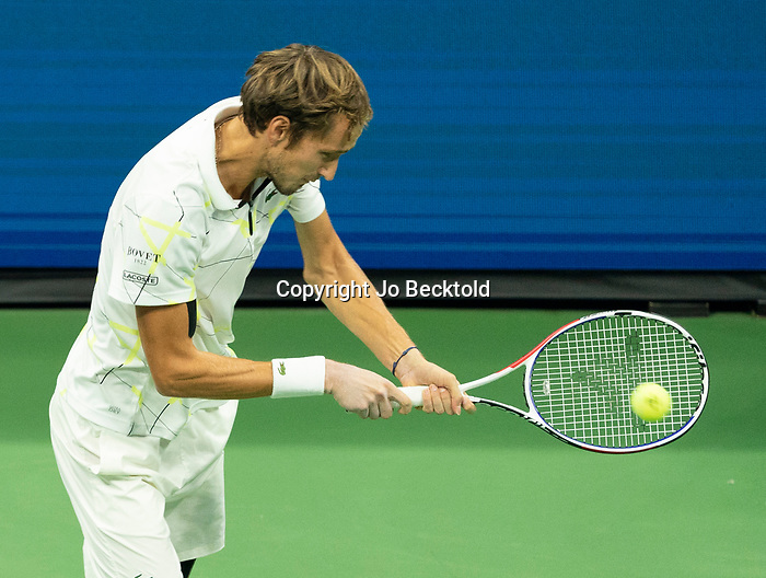 September 5,2019:  Daniil Medvedev (RUS) defeated Grigor Dimitrov (BUL) 7-6, 6-4, 6-3, at the US Open being played at Billie Jean King National Tennis Center in Flushing, Queens, NY.  ©Jo Becktold/CSM