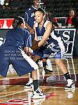 Jackson State Tigerettes forward Beatrice Banks (14) in action during the SWAC Tournament game between the Prairie View A&M Lady Panthers and the Jackson State Tigerettes  at the Special Events Center in Garland, Texas. Prairie View defeats Jackson State 56 to 40.