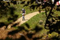 Julien Absalon , France . London Prepares Mountain Bike Olympic Test Event , Hadleigh Farm , Essex , July 2011 pic copyright Steve Behr / Stockfile