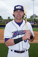Trey Michalczewski (8) of the Winston-Salem Dash poses for a photo prior to the game against the Myrtle Beach Pelicans at BB&T Ballpark on May 10, 2015 in Winston-Salem, North Carolina.  The Pelicans defeated the Dash 4-3.  (Brian Westerholt/Four Seam Images)