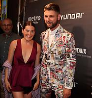 Sophie Cadieux et Pierre Lapointe,<br /> 30 ieme gala des Gemeaux ,<br /> le 30 septembre 2015, a la Place-des-arts.<br /> <br /> Photo : Agence Quebec Presse