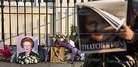 08.04.2013 - Margaret Thatcher's Death - 73 Chester Square