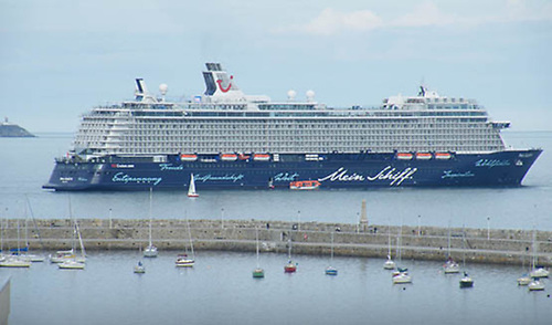 Mein Schiff 4, pictured off Dun Laoghaire's East Pier in 2015
