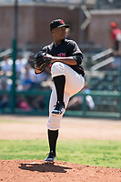 Visalia Rawhide relief pitcher Tyler Mark (23) prepares to deliver a pitch during a California League game against the Stockton Ports at Visalia Recreation Ballpark on May 9, 2018 in Visalia, California. Stockton defeated Visalia 4-2. (Zachary Lucy/Four Seam Images)