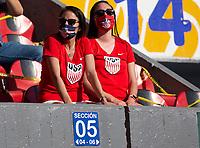 GUADALAJARA, MEXICO - MARCH 28: USA fans during a game between Honduras and USMNT U-23 at Estadio Jalisco on March 28, 2021 in Guadalajara, Mexico.