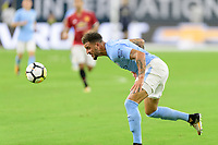 Houston, TX - Thursday July 20, 2017: Kyle Walker during a match between Manchester United and Manchester City in the 2017 International Champions Cup at NRG Stadium.