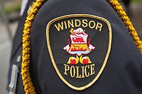 Windsor Police badge is seen during a police memorial parade in Ottawa Sunday September 26, 2010.