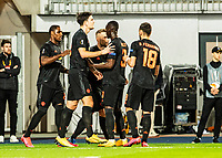 12th March 2020, TGW Arena, Pasching, Austria; UEFA Europa League football,  LASK versus Manchester United;  Odion Ighalo Manchester United celebrates his goal with his team mates